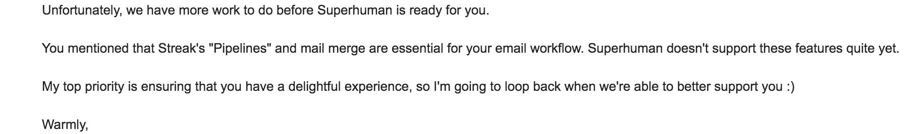 Superhuman Email Response