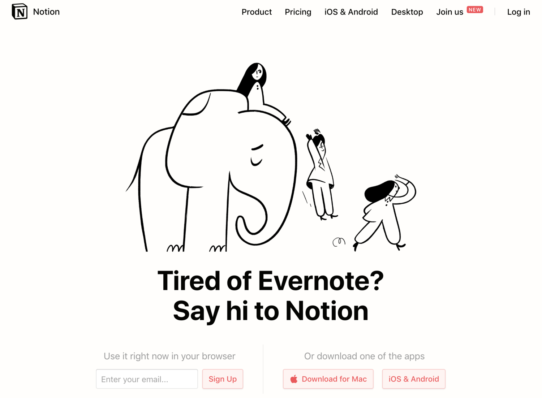 Notion vs. Evernote Competitor Comparison