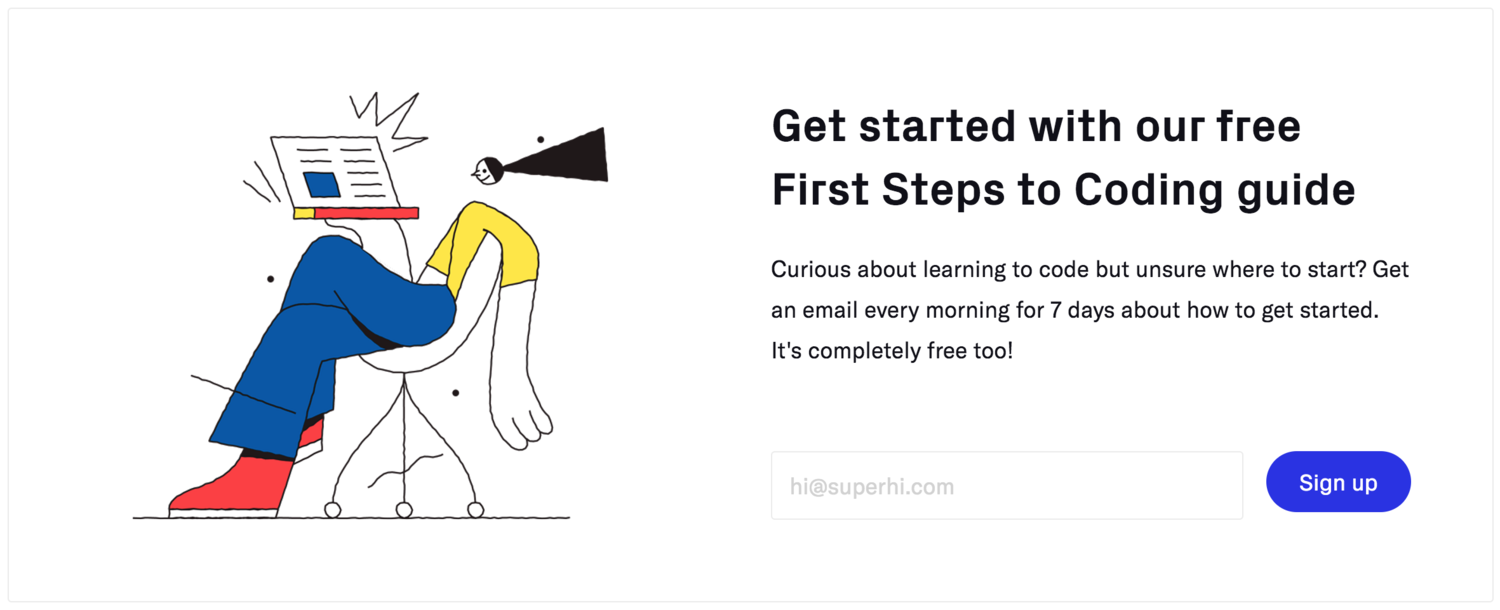 SuperHi First Steps Guide To Coding On Website